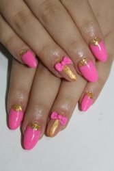 Manikyr: Pink golden bow product image